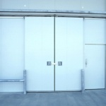 sliding door with double leaf