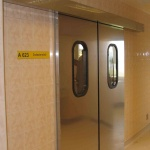 automatic double sliding door for hospitals