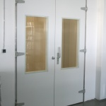 double hinged door with gasket for clean rooms