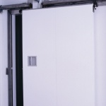 sliding door with upper rail