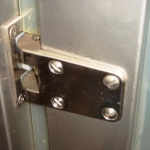 patented stainless steel hinge for swing doors