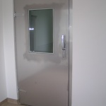 stainless steel hinged door